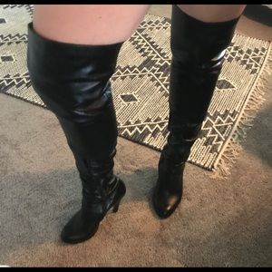 Leather, Over-The-Knee-Boots